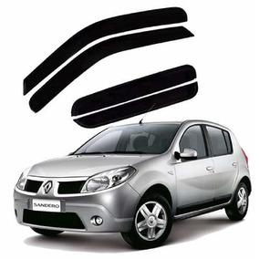 Jogo Calha De Chuva Defletor Renault Sandero 2007 A 20013
