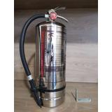 Extintor Tipo K De Acero Inox 6lts Cargado Guarderia Cocina