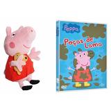 Peppa Pig De Pelúcia - Boneco Pepa + Dvd Peppa Pig Pepa