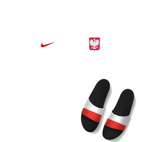 Kit Camisa + Chinelo Slide Nike Seleção Polônia Copa Mundo