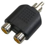 Adaptador Plug Rca P/2 Jack Rca - Níquel C 5 Peças