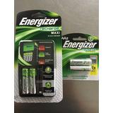 Baterías Energizer Recargables Cargador + 4aa Nuevas Fac