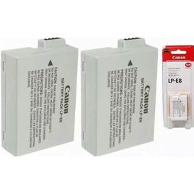 Kit 2 Baterias Lp-e8 Canon Original Lp E8 T3i T4i T5i X5