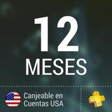 Código Psn Plus 12 Meses (región Usa)