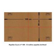Papel Papelão Couro Nº 100 | 8 Placas De 100x40 Ótimo Preço