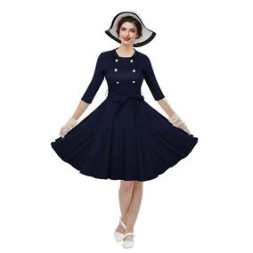Zaful Estilo Vintage De Mujer Vestido De Primavera Y Otoño