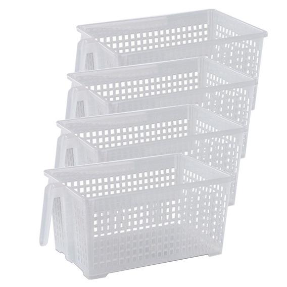 Canastos Organizador Plastico Grande Manija Colombraro X4
