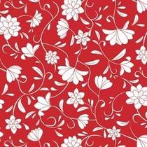 Papel Muresco Galia Rojo Blanco Flores Lavable 464