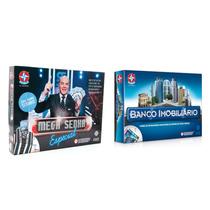 Kit Brinquedos Jogo Banco Imobiliário + Jogo Mega Senha