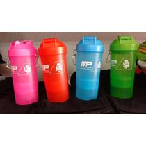 Shaker Mezclador Proteina Varios Colores 2 Compartimientos