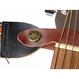 Gancho Para Correa De Guitarra Clasica 100% Cuero