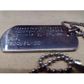 Placa Tipo Militar ( Acero Inoxidable )