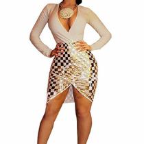 Vestido Fiesta Noche Sexy Escote Elegante Sexy Kardashian