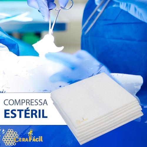 Compressa Cirúrgica De Gaze 7,5x7,5 13 Esteril Fios 500un