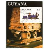 Guyana Hoja Filatélica Temática Trenes