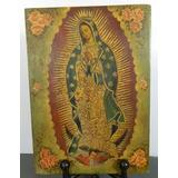 Antigua Pintura De La Virgen De Guadalupe En Madera México
