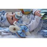 Fadinha Bebê Reborn, Boneca, Bebe , Menina, Azul Loirinha