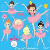 Kit Imprimible Bailarina Nena Ballet 8 Imagenes Clipart