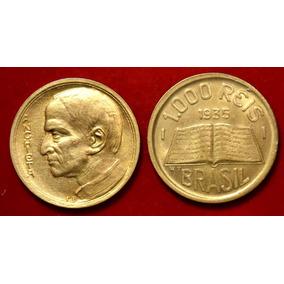 Moeda 1000 Reis 1935, Anchieta, Modulo Maior, Escasso, Sb X