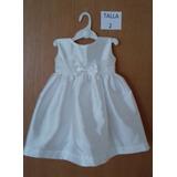 Vestidos De Fiesta Para Niñas Talla 2 Colores:blanco /marfil