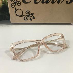 d9aa1bfae74df Oculos De Grau Versace Vermelho - Óculos Dourado no Mercado Livre Brasil