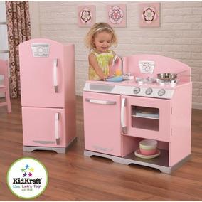Cozinha + Refrigerador Infantil - Retro Rosa - Kidkraft Nova