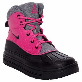 Niña Nike Botas Altas Woodside 2 Acg Pre-escolar Rosa Negro