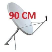 Antena Ku 90cm + Lnb Dupla + Kit Cabo Rg 06 + Kit Instalação
