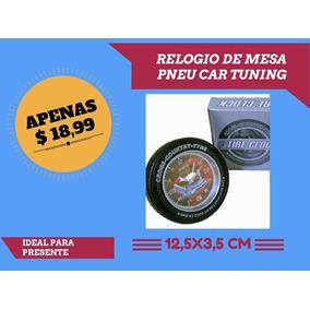 Relogio De Mesa Modelo Pneu Tuning Top 12.5 X 3.5 Cm Lindo