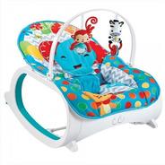 Cadeira De Descanso Musical Vibratória E Balanço Safari Azul