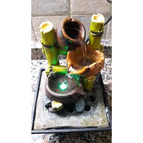 fuente de agua chica con luz led zen feng shui hogar
