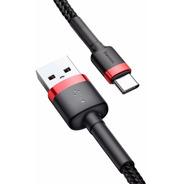 Cable Carga Rapida Usb Tipo C Uso Rudo Reforzado 200cm