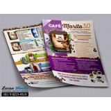 250 Panfletos Café Marita 3.0