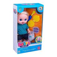 Boneco Babys Collection Com Comidinha - Super Toys 357