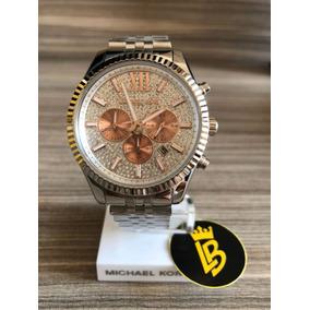 70407e4d6ec Michael Kors Cravejado Dourado - Relógios De Pulso no Mercado Livre ...