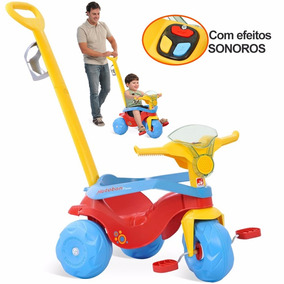 Carrinho De Passeio Velocipede Motoban Velotrol C/ Sons Novo