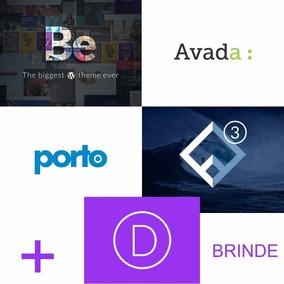Pacote De Temas Wp - Betheme, Avada, Flatsome, Porto + Divi