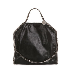 Hermosa Bolsa Stella Mccartney Falabella Fold Over Negra 35