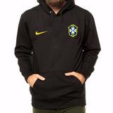 Blusa Moletom Seleção Brasileira Futebol Com Capuz E Bolso