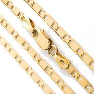 Cordão 70 Cm Masculino Ouro18k Piastrine Largura 2,75mm