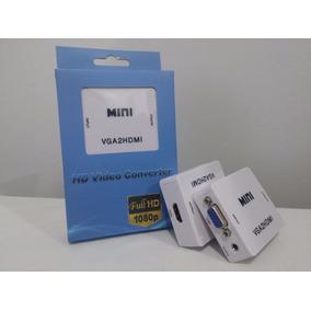Mini Adaptador Conversor De Vga Para Hdmi Com Áudio P2 Pc