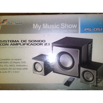 Sistema De Audio Con Amplificador 2.1