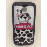 Capa Capinha Case Motorola Moto G2 Vaca