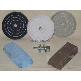 Kit 10-polimento Lustro-aro Roda,tampa Motor,garfos,escapame