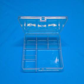 60 Caixa Organizadora Plastico Transparente 6 Divisórias