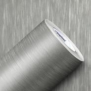 Adesivo Envelopamento Geladeira Aço Escovado Inox 10m X 1m