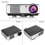 Topnew Video Projector Led 2800 Lumens Lcd Home Movie Tv Pro