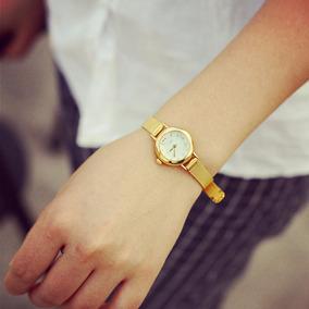 Relógio Feminino Folheado A Ouro Belissimo Promoção