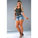 Short Jeans Lipsoul Lipsy Girls Super Queima Estoque
