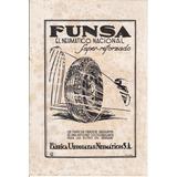 Uruguay Hoja Publicidad Funsa Fabrica Neumaticos Años 30